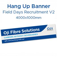 Field Days Hang Up Banner - Recruitment. Ver 2.