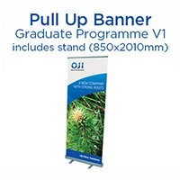 Graduate Programme Pull Up Banner & Stand. Ver 1