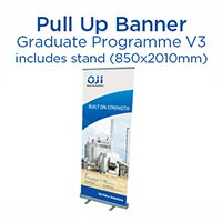 Graduate Programme Pull Up Banner & Stand. Ver 3.
