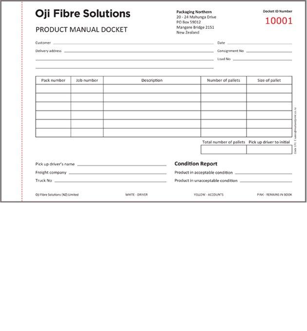 Oji Code 171 Packaging Northern Product Manual Docket